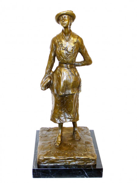 Bronzefigur - Das Schulmädchen 1881 -  Edgar Degas signiert