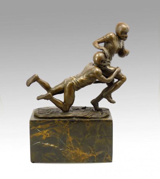 Bronze-Pokal - Die Footballspieler - signiert Milo
