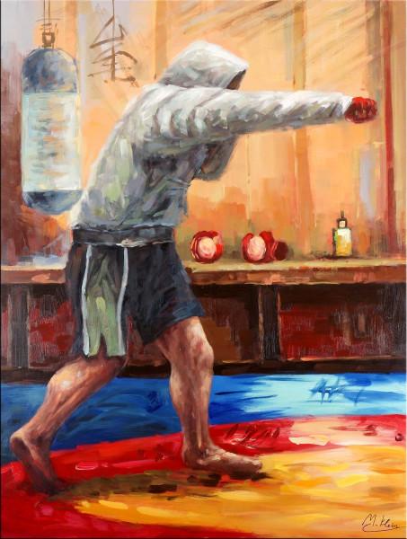Modernes Acrylgemäle - Boxing Warrior - Martin Klein