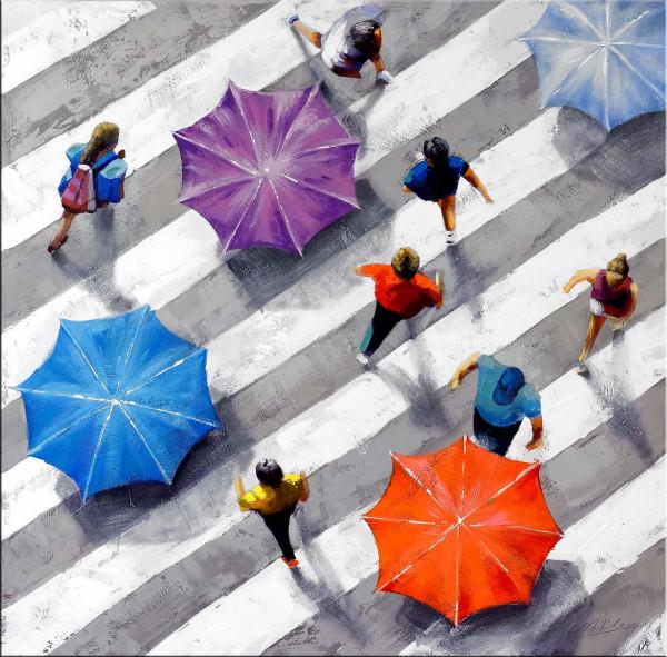 Modernes Gemälde auf Leinwand - Under my Umbrella - Martin Klein