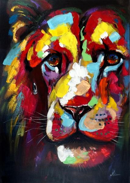 Colourful Lionhead – Bunter Löwenkopf – Martin Klein – Löwenbild - Löwe