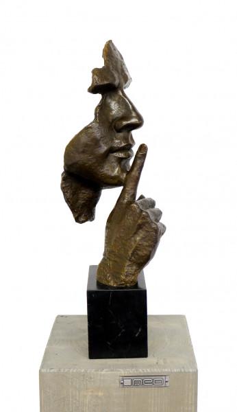 Stille - Moderne Skulptur - Hommage an S. Dali, signiert