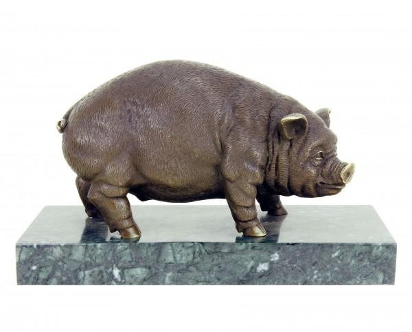 Bronze Schwein / Hausschwein -  Bronzestatue - Skulptur von Bugatti