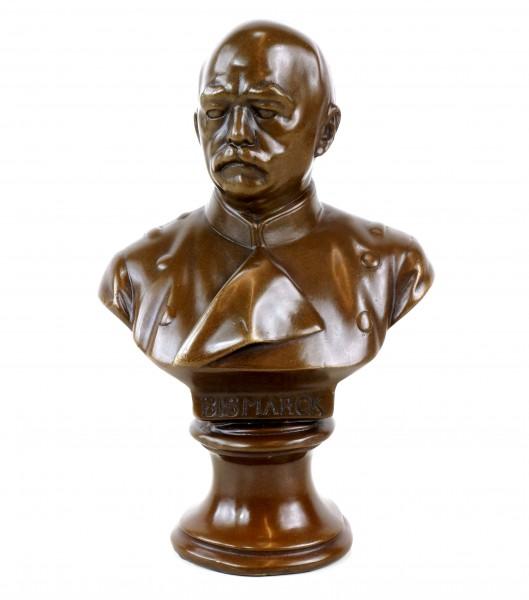 Otto von Bismarck Büste - signiert - Militaria Bronze