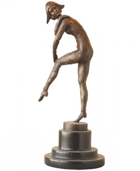 Art Deco Bronze signiert Chiparus - Tanz der Harlekinade
