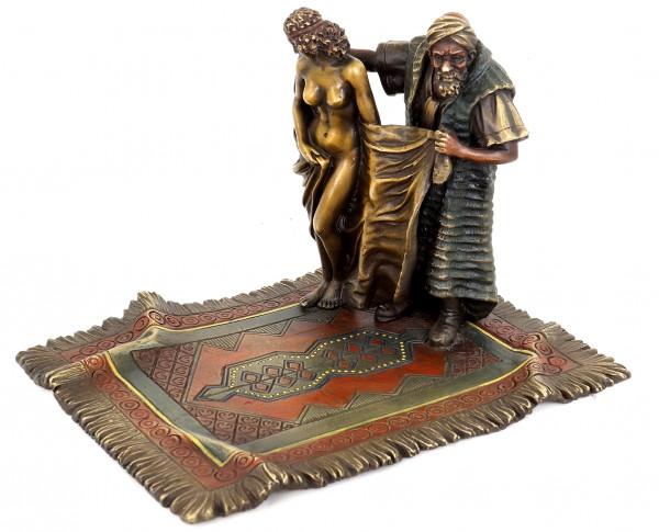 Teppichhändler mit Sklavin - Wiener Bronze - Bergman