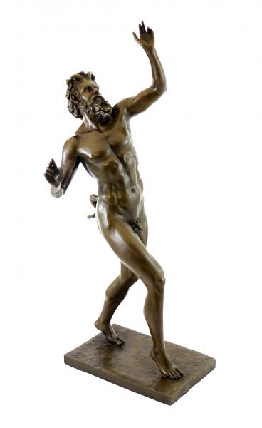 Bronzeskulptur - Fauno Danzante aus Pompeji - sign. Milo