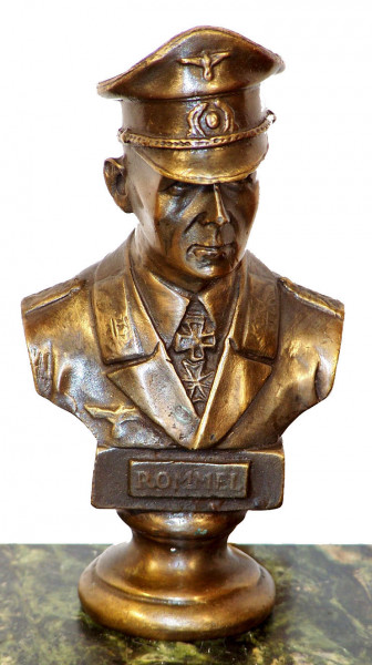 Rommel-Büste - Der Wüstenfuchs - signiert Lederer