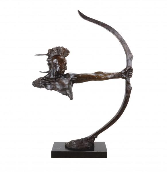 Indianer mit Bogen - Irokese - Indianer Bronze Krieger - Remington