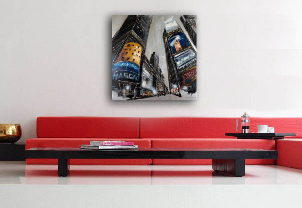 New York - Times Square - Öl/Acryl auf Leinwand - Martin Klein