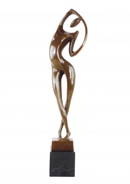 Moderne Kunst - Akt Bronzeskulptur signiert Milo