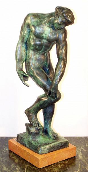 Moderne Kunst Männerbronze (Adam) signiert Auguste Rodin