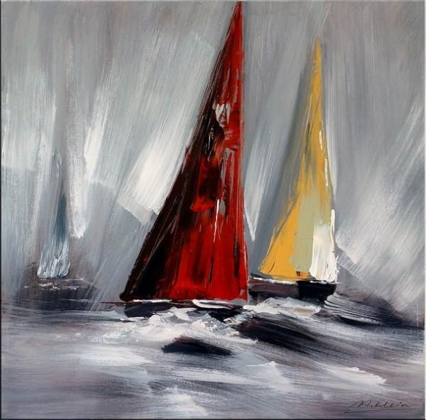Sailing Regatta II - Acrylmalerei - sign. Martin Klein
