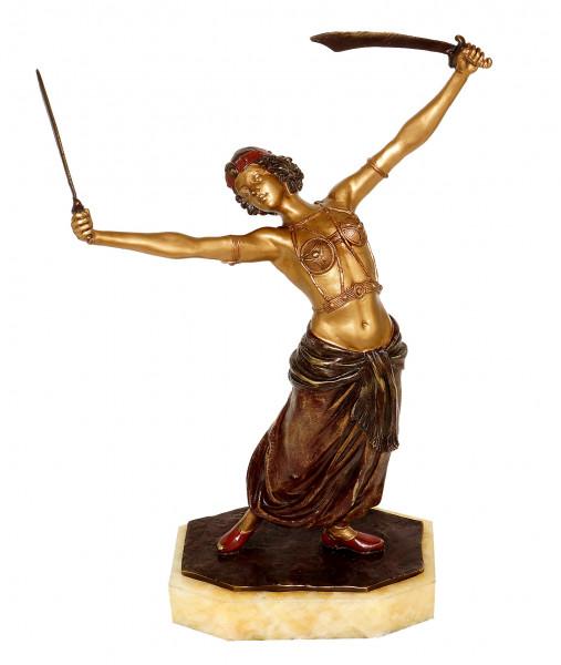 Wiener Bronze - Erotische Schwert-Tänzerin / Orientale