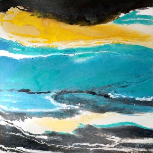 Desert Waves II – Abstraktes Gemälde – Martin Klein – Moderne Kunst