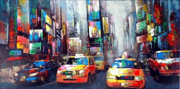 Broadway Scene – New York Bild – Martin Klein – Taxi Drive