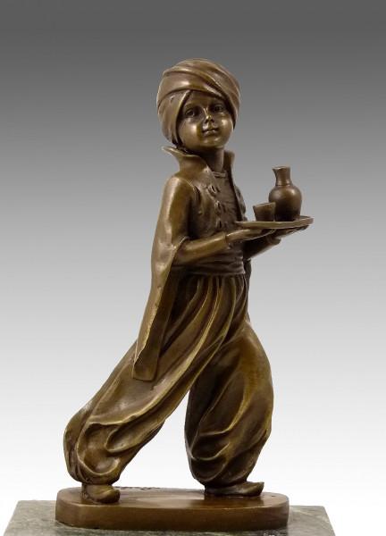 Art Deco Bronze - Sarotti Mohr - Werbefigur - signiert F. Preiss