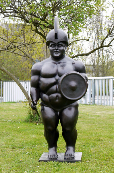 Großbronze - Il Guerriero /Roman Warrior - Fernando Botero