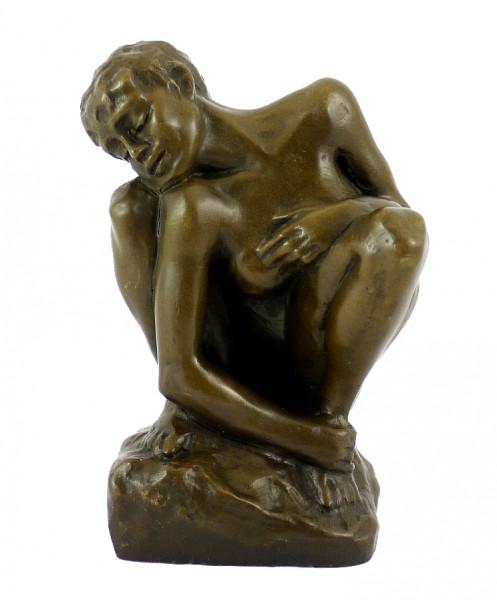 Bronzestatue - Die Kauernde - La Femme accroupie - Auguste Rodin