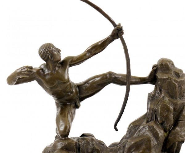 Bronzefigur - Herakles als Bogenschütze - sign. Juno