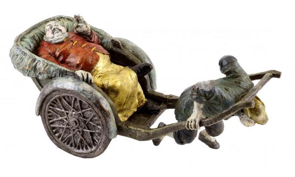 Der Chinesische Kutscher - Handbemalte Bronzefigur - von Milo