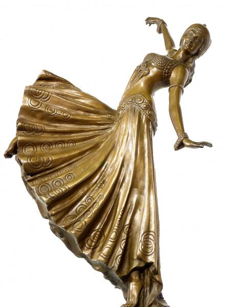 Art Deco Künstlerbronze - Revuetänzerin - signiert D. H. Chiparus