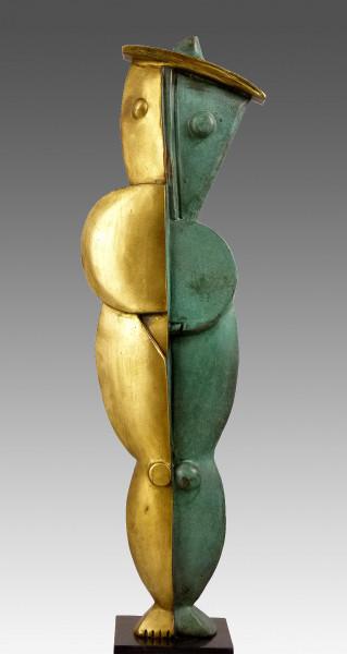 Abstrakte Bronzeplastik - Weiblicher Akt - entworfen von Milo