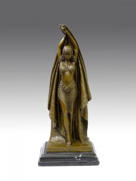 Art Deco Bronze Tänzerin von D.H. Chiparus / ANTINEA
