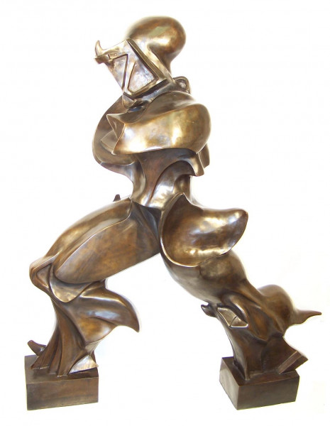 Einzigartige Formen der Kontinuität im Raum v. Umberto Boccioni