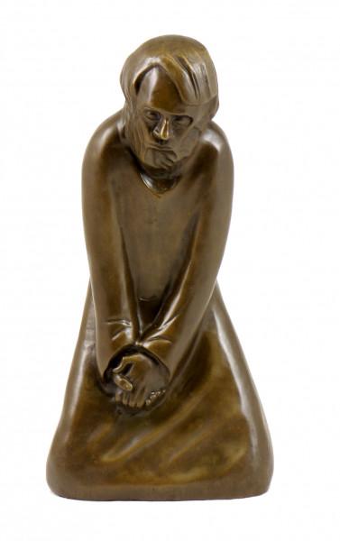 Moderne Kunst Bronze - Der Zweifler - 1931, sign. Ernst Barlach