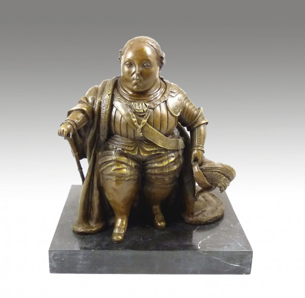 Moderne Bronze - Louis XVI - signiert mit Botero