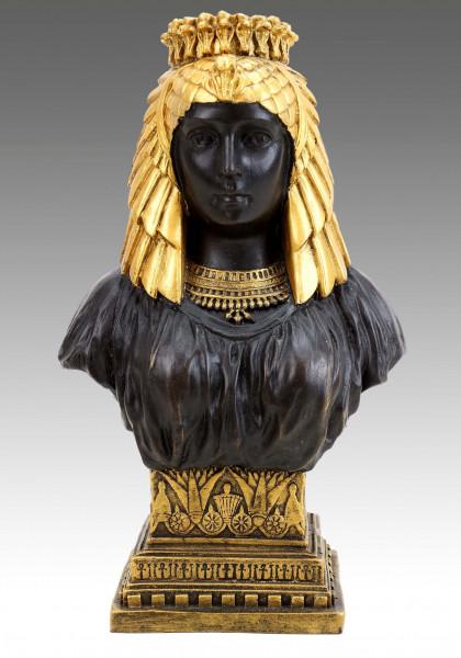 Ägyptische Kleopatra Büste - Griechische Statue - signiert Milo