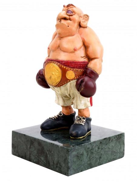Ivan der Boxer - handbemalte Bronzefigur - Moderne Kunst - Milo