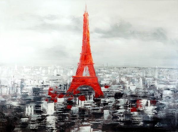 Paris in Red – Parisbild – Skyline – Martin Klein - Acrylbild