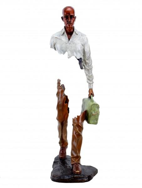 Moderne Bronze Skulptur - Erased Man II - limitiert - Martin Klein