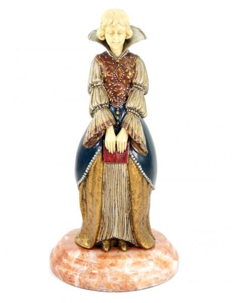 Art Deco Bronzefigur - Jeune femme au livre - signiert Chiparus