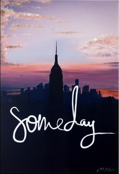 Someday - New York Skyline - Acryl / Digitaldruck auf Leinwand