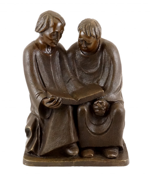 Bronzeskulptur - Lesende Mönche (1932) - sign. Ernst Barlach