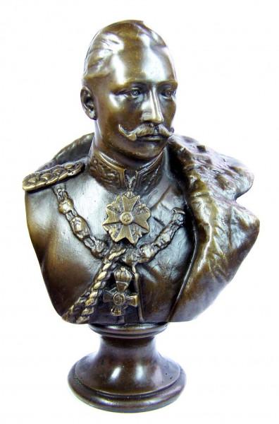 Kaiser Wilhelm der 2. -Bronze Büste Deutsches Kaiserreich, sign.