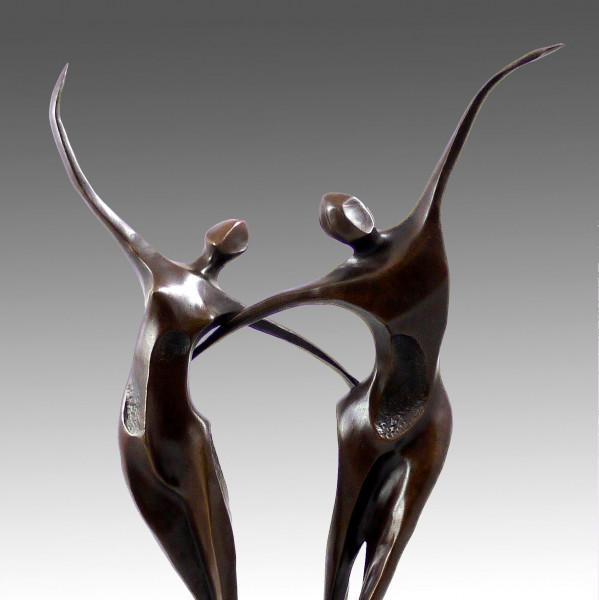 Moderne Kunst Bronze Tanzpaar (Abstract Dancer) signiert Milo