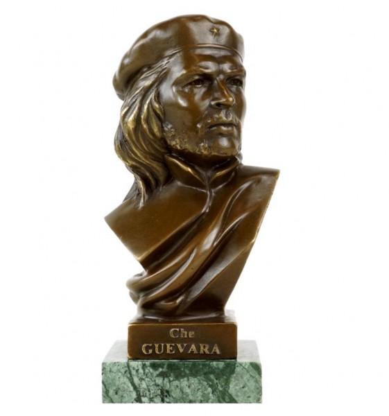 Che Guevara Büste aus Bronze - Revolutionär - signiert