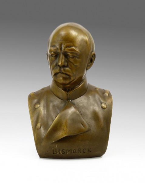 Otto von Bismarck - Bronze-Büste signiert