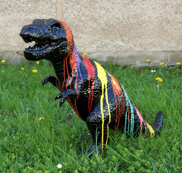 Fiberglasskulptur - Painted Tyrannosaurus - Martin Klein