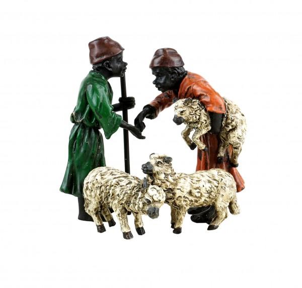 Arabische Schafhändler - Wiener Bronze - handbemalt - gestempelt