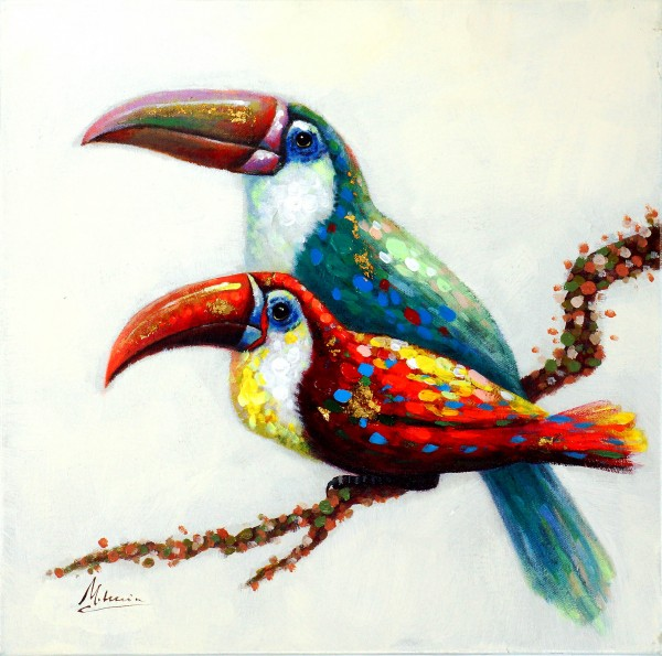 Tukanpärchen – Vogelbild – Martin Klein – Tiergemälde