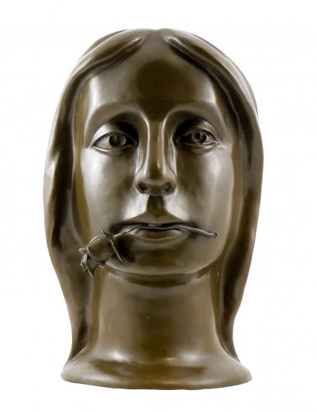 Bronzekopf - Girl with Rose (1924) - sign. Otto Gutfreund