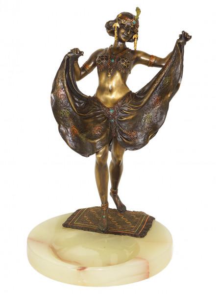 Wiener Bronze Figur - Orientalische Tänzerin - Bergmann-Stempel