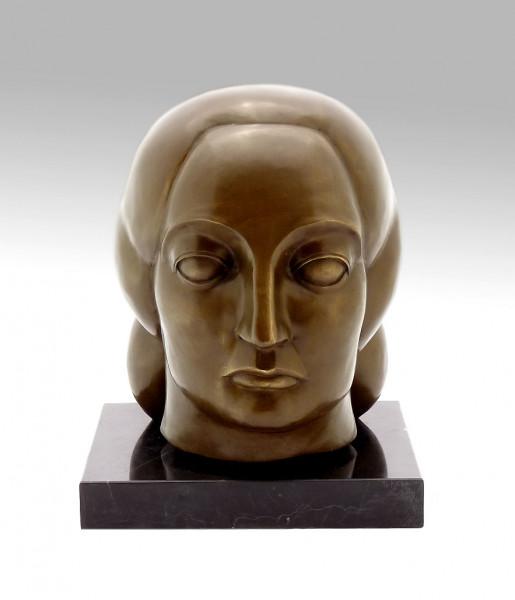 Bronze Skulptur Frauenkopf von Gaston Lachaise