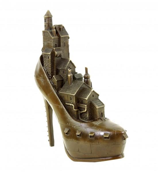 Limitierte Steampunk Bronzefigur - High Heel - Gothic - Martin Klein