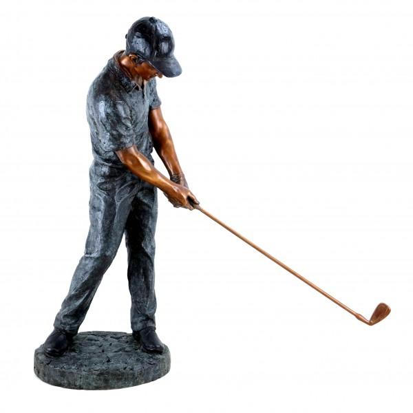 Moderne Bronze Skulptur Golfer - limitiert - Große Golfspieler Statue